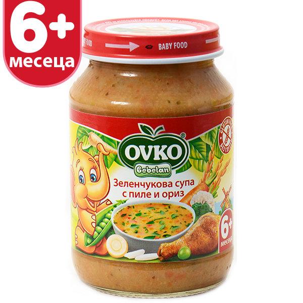 Овко Бебешка зеленчукова супа с пиле 190 гр. 5м+ 7196